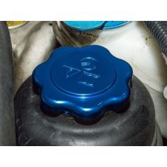 DA8895 - Blue Anodised Power Steering Reservoir Cap for Defender - Fits All Years - Standard Fitment