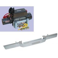 DB1310GALV - Defender Galvanised Winch Bumper With DB9500I Winch and Steel Cable (No AC)
