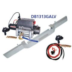 DB1313GALV - Defender Galvanised Bumper With DB12000I Winch and Steel Cable (No AC)