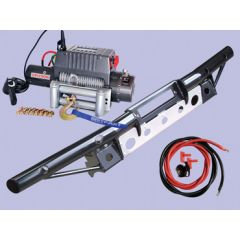 DB1319 - Defender Tubular Bumper With DB12000I Winch and Steel Cable (No AC)