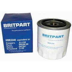 ERR3340 - ERR3340B - Oil Filter for Defender, Discovery and Classic 2.5, 200TDI, 300TDI and V8 - By Britpart