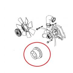 ETC4785 - Pulley for Water Pump on Turbo Diesel Defender - Image for Illustration