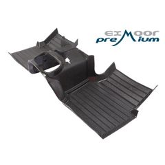 EXT009-25 - Defender Heavy-Duty Moulded Mat System in Black by Exmoor Trim - For Puma Defenders from 2007