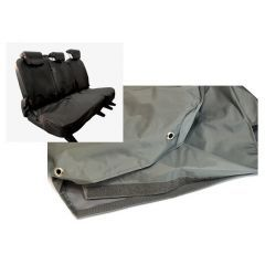 EXT018-19GRY - Second Row Seat Covers in Grey Nylon for Land Rover Defender Puma - 60/40 Split fits from 2007 Onwards