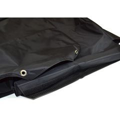 EXT018-20 - Tumble Down Seat Covers in Black Nylon for Land Rover Defender Puma - Fits from 2007 Onwards