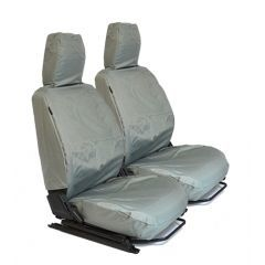 EXT018-2GRY - Front Pair of Outer Seat Covers in Grey Nylon for Land Rover Defender - Fits 1983-2006