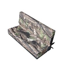 EXT018-57 - Canvas Rear Two-Man Bench Seat Covers in Camouflage for Land Rover Defender - Fits from 1983 - 2006