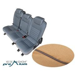 EXT019-10 - Canvas Second Row Seat Covers in Sand for Land Rover Defender Puma - Fits from 2007-2012 with 60/40 Split