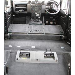EXT021-24 - Rear Section Premium Carpet Set for Defender Puma 110 Station Wagon with 7 Seats and Cut Away Wheel Arches - RHD & LHD Defenders