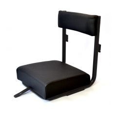 EXT058-BV - Radio Operator Seat for Land Rover Defender - in Black Vinyl