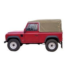 EXT202-2 - Full Canvas Hood for Land Rover Defender 90 from 1998 Onwards - By Exmoor Trim - Comes in Multiple Trim Options