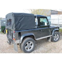EXT204 - Three Quarter Hood for Land Rover Defender 90 - Cab Fit Hood - By Exmoor Trim - Comes in Multiple Trim Options
