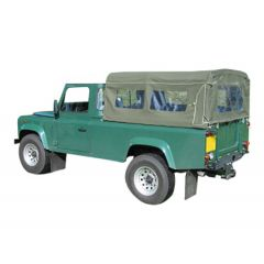 EXT209 - Three Quarter Hood for Land Rover Defender 110 - Body Fit Hood - By Exmoor Trim - Comes in Multiple Trim Options