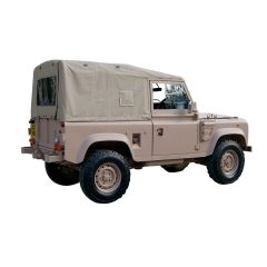 EXT296-S - Defender 110 Full Hood for Wolf Vehicles in Sand (image shows Defender 90)
