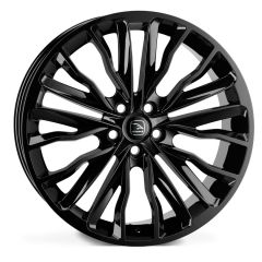 HARRIER-JET - Hawke Harrier Alloy Wheel in Grey in Jet Black - For Range Rover Sport, Vogue or Discovery