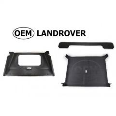 OEM Land Rover Head Lining in Alston Black (Suede Effect) for Defender 90 -  Complete Headlining - Vehicles with Sunroof