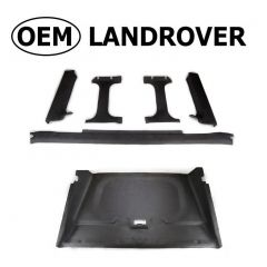 OEM Land Rover Head Lining in Alston Black for Defender Truck Cab - Complete Headlining and Rear Window Surrounds