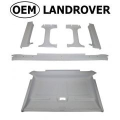 OEM Land Rover Head Lining in Ripple Grey for Defender Truck Cab - Complete Headlining and Rear Window Surrounds