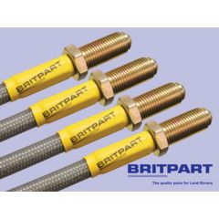 DA240740S - Range Rover Classic Brake Hose Kit by Britpart - Stainless & Braided - Plus 40mm Height 1992 On ABS