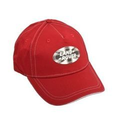 LACH015RDA - Land Rover Baseball Cap - Comes in Red with Union Jack Oval Logo