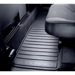 LR005041 - Defender Middle Row Rubber Mat Set - Genuine Land Rover (FOR 5 Door 110 and Double Cab Pick Up VEHICLES FROM 2007 - Puma Engine)