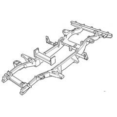 LR038626 - Genuine Land Rover Full Defender Chassis - For Defender 90 from 2007 Onwards - Will Fit Earlier Models With Adaption