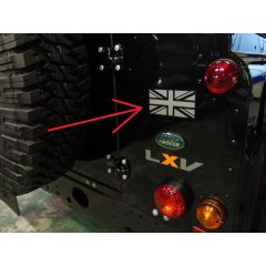 LR051776 - Genuine Land Rover Union Jack Decal Sticker - For Defender Tailgate Badge - As Fitted to Defender LXV 65th Special Edition