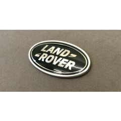 LR062123 - Green and Silver Oval Badge with Silver Plinth - Genuine Land Rover (For Use On REAR Of Vehicles)