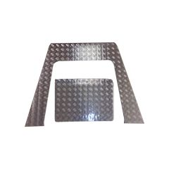LR182-3 - Defender Two-Piece Bonnet Chequer Plate - From 2007