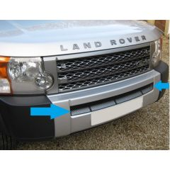 LR3G329-B - Discovery 3 Black Lower Mesh Grille - Stainless Steel Powder Coated Mesh - Will Never Rust!