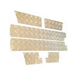 LR565S-3 - Chequer Plate for Lower Outer Doors for Defender 90 In Satin Finish 3mm - 6 Piece Kit