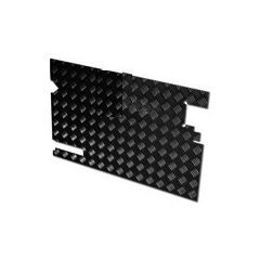 LR81B-3 - Chequer Plate for Rear Door Casing for Defender 83-88 and Series Land Rover - No Wiper Hole - In Black 3mm