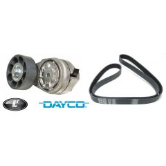 LRC1060 - Fan Belt and Fan Belt Tensioner for Defender and Discovery 300TDI from 1995 Onwards - Dayco Branded - OEM Equipment