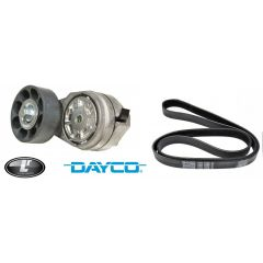 LRC1061 - Fan Belt and Fan Belt Tensioner for Defender and Discovery 300TDI up to 1995 Onwards - Dayco Branded - OEM Equipment