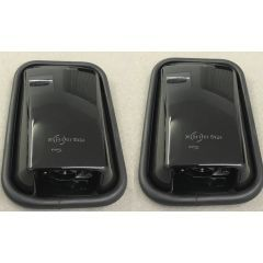LRC1066 - Pair of Black Gloss Mirror Head for Land Rover Defender - With Glass and Rubber Surround
