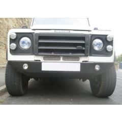 LRC3045 - Tapered Large Defender Front Bumper with Pair of Spot Lights Fitted