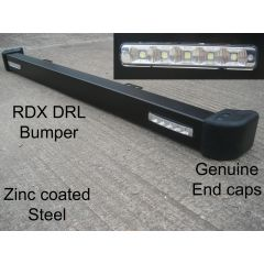 LRC3055 - Defender RDX Front Bumper with DRL Daytime Running Lights and Genuine Bumper End Caps Fitted