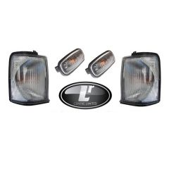 LRC306 - Full Clear Light Kit for Discovery 2 - Four-Piece Clear Indicator Kit for Land Rover Discovery up to 2003