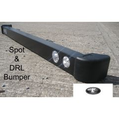 LRC3085 - RDX Defender Front Bumper with LED Spot Lamps and TD5 End Caps
