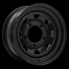 "LRC5005 - Steel Eight Spoke Wheel in Black - 15"" x 8"" - Will Fit Defender, Discovery 1 and Range Rover Classic"