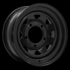 "LRC5012 - Steel Eight Spoke Wheel in Black - 16"" x 7"" - Will Fit Defender, Discovery 1 and Range Rover Classic"