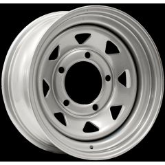 "LRC5006 - Steel Eight Spoke Wheel in Silver - 15"" x 8"" - Will Fit Defender, Discovery 1 and Range Rover Classic"
