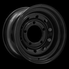 "LRC5008 - Steel Modular Wheel in Black - 15"" x 8"" - Will Fit Defender, Discovery 1 and Range Rover Classic"