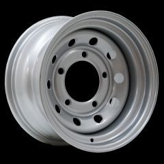 "LRC5009 - Steel Modular Wheel in Silver - 15"" x 8"" - Will Fit Defender, Discovery 1 and Range Rover Classic"