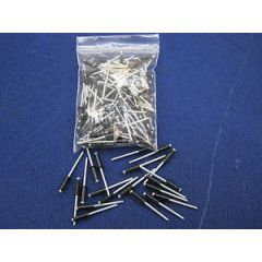 LRC1011 - Black Coloured Rivets - Perfect for Black Chequer Plate for Defender or any other Land Rover Vehicle - PACK OF 10