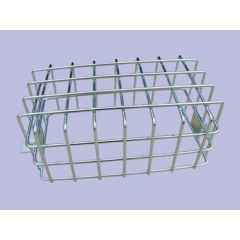 MRC316 - Rear Galvanised Lamp Guard - Mesh Style - Sold as Single - For Defender and Series