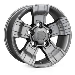 "OSPREY-MG - Hawke Design - Defender 18 "" Alloy Wheel - Osprey Matt Gunmetal Alloy Wheel - 8 x 18"""