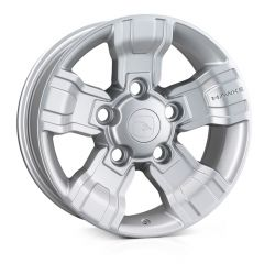 "OSPREY-SIL - Hawke Design - Defender 18 "" Alloy Wheel - Osprey Silver Alloy Wheel - 8 x 18"""