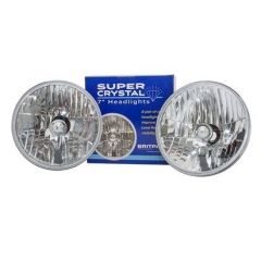 PRC7994C - LHD Pair of Crystal Halogen Headlamps for Defender, Series and Range Rover Classic (Bulbs Not Included)