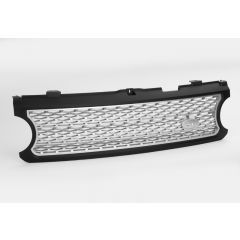 RRG214 - Range Rover L322 Supercharged Grille In Black with Silver Mesh  (For 2006-2009)